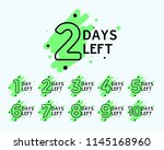 number of days left tags  | Shutterstock .eps vector #1145168960