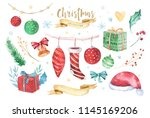 merry christmas and happy new... | Shutterstock . vector #1145169206