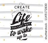inspirational quote  motivation.... | Shutterstock .eps vector #1145172830