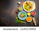 assorted traditional indian... | Shutterstock . vector #1145174903