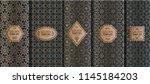 set of golden luxury templates. ... | Shutterstock .eps vector #1145184203