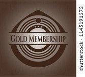 gold membership retro wooden... | Shutterstock .eps vector #1145191373