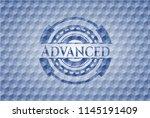 advanced blue emblem with... | Shutterstock .eps vector #1145191409