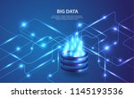 big data analytics of data from ... | Shutterstock .eps vector #1145193536