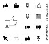 thumb icon. collection of 13... | Shutterstock .eps vector #1145203166