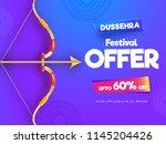 dussehra festival sale banner... | Shutterstock .eps vector #1145204426