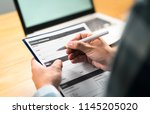 survey  agreement or... | Shutterstock . vector #1145205020