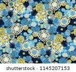 seamless vector pattern with... | Shutterstock .eps vector #1145207153