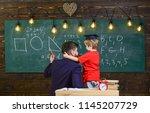 favourite teacher concept.... | Shutterstock . vector #1145207729
