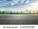 asphalt road and forest with... | Shutterstock . vector #1145209589