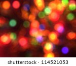 Blurred Christmas Lights...