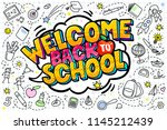concept of education. school... | Shutterstock .eps vector #1145212439