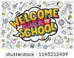 concept of education. school... | Shutterstock .eps vector #1145212439