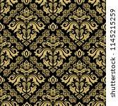 classic seamless vector black...   Shutterstock .eps vector #1145215259