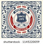 label design vector antique... | Shutterstock .eps vector #1145220059