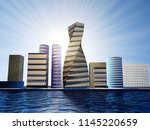 Futuristic City With Towers Of...