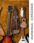 musical instrument   vintage... | Shutterstock . vector #1145222633