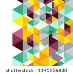 multicolored triangles abstract ... | Shutterstock .eps vector #1145226830