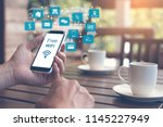 iot  internet of things concept.... | Shutterstock . vector #1145227949