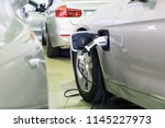 close up of the hybrid car... | Shutterstock . vector #1145227973