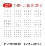 set of thin line icons... | Shutterstock .eps vector #1145228489