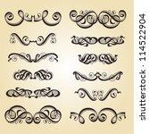 calligraphic ornamentation. set ... | Shutterstock .eps vector #114522904