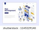 app development modern flat...