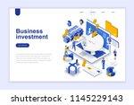 business investment modern flat ... | Shutterstock .eps vector #1145229143