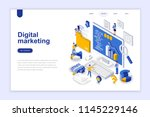 digital marketing modern flat... | Shutterstock .eps vector #1145229146