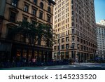 tall building with residential... | Shutterstock . vector #1145233520