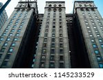 high building of state bank... | Shutterstock . vector #1145233529