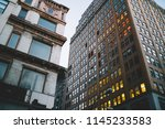 angle view of tall buildings... | Shutterstock . vector #1145233583