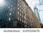exterior of modern business... | Shutterstock . vector #1145233670