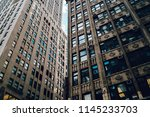 high buildings exterior with... | Shutterstock . vector #1145233703