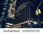 modern architecture facade of... | Shutterstock . vector #1145233733
