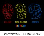 geometrically chopped human... | Shutterstock .eps vector #1145233769