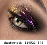 beautiful eye make up with... | Shutterstock . vector #1145234846