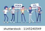 feminists social movement.... | Shutterstock .eps vector #1145240549
