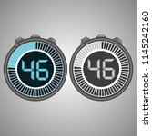 electronic digital stopwatch.... | Shutterstock .eps vector #1145242160