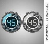 electronic digital stopwatch.... | Shutterstock .eps vector #1145242163