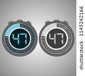 electronic digital stopwatch.... | Shutterstock .eps vector #1145242166