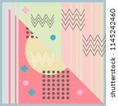 hijab pattern abstract memphis... | Shutterstock .eps vector #1145242460