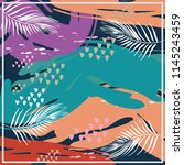 abstract exotic pattern square... | Shutterstock .eps vector #1145243459