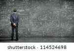 business person standing... | Shutterstock . vector #114524698