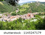 view over the old town of... | Shutterstock . vector #1145247179
