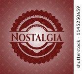 nostalgia red emblem. vintage. | Shutterstock .eps vector #1145250659