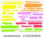 colorful highlighters set.... | Shutterstock .eps vector #1145252840