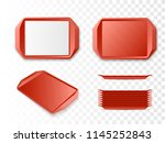 tray salver set isolated.... | Shutterstock .eps vector #1145252843