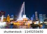 beautiful buckingham fountain...   Shutterstock . vector #1145253650
