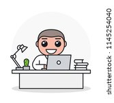 young smiling business man or... | Shutterstock .eps vector #1145254040